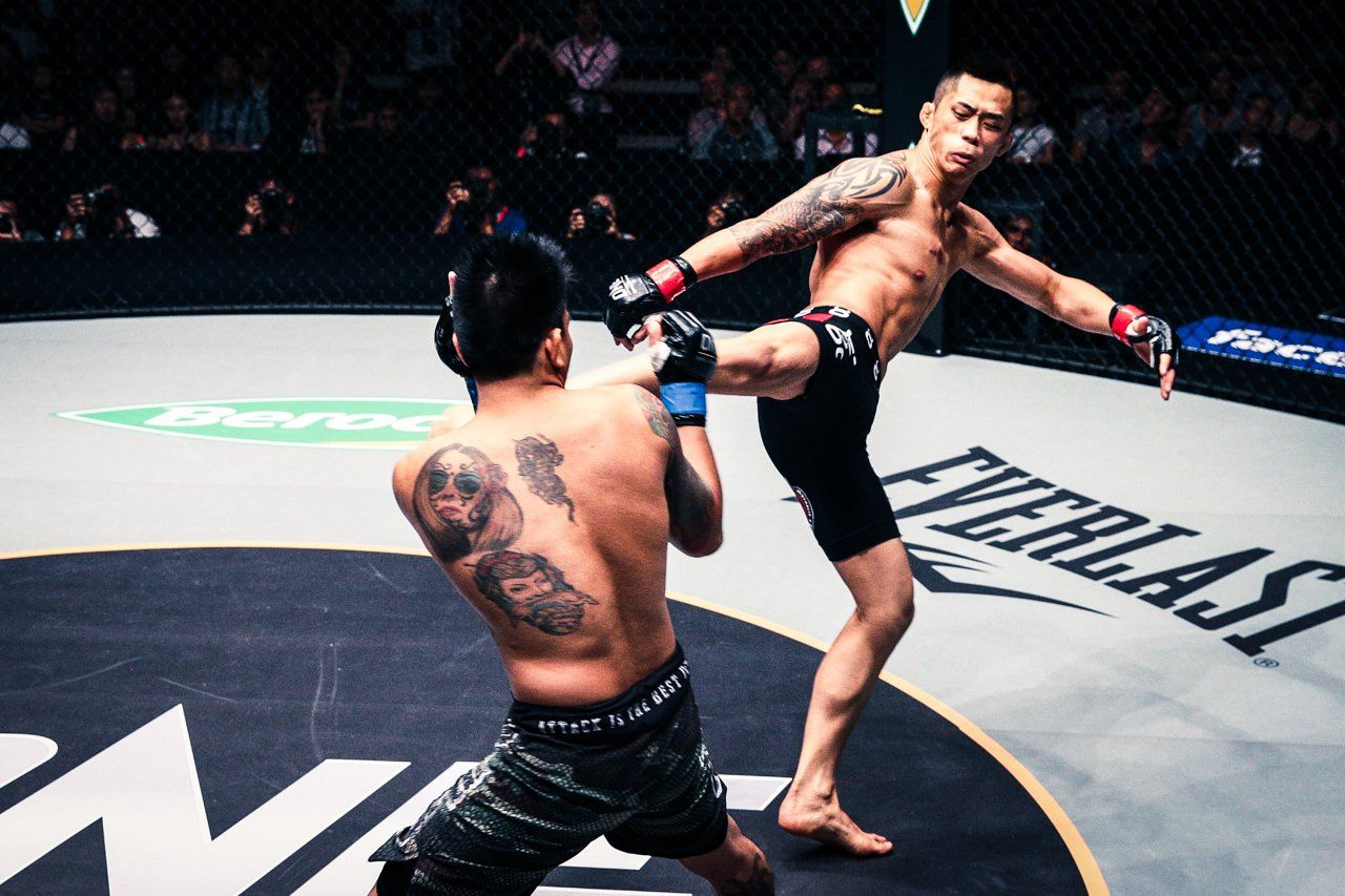 Martin Nguyen in his ONE Championship debut