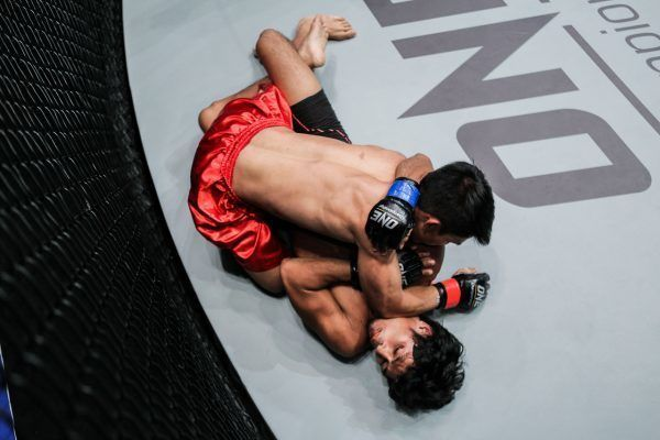 Danny Kingad displays his ground game at ONE: AGE OF DOMINATION in Manila