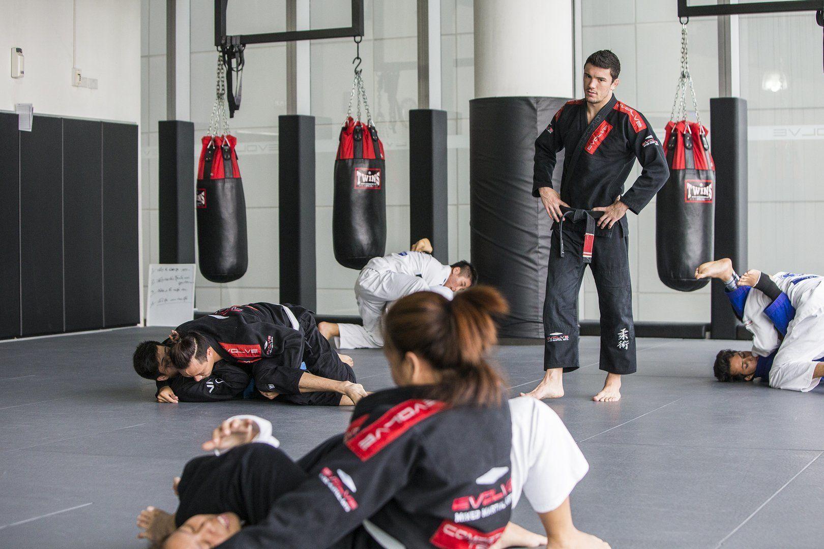 Brazilian Jiu-Jitsu black belt Bruno Pucci teaches at Evolve MMA