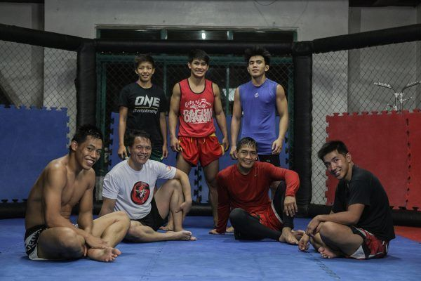 Team Lakay after practice in Baguio City