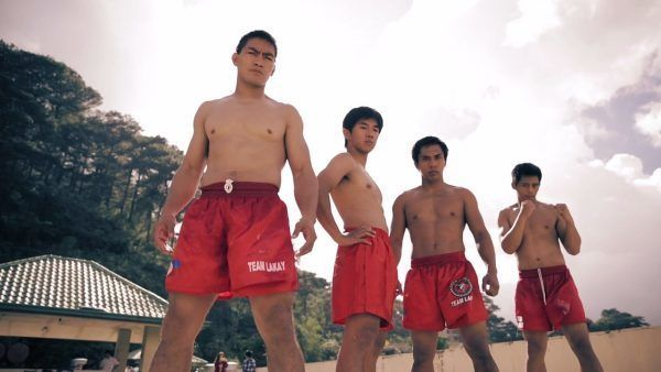 Team Lakay's Eduard Folayang, Geje Eustaquio, Kevin Belingon, and Honorio Banario post in the Philippines