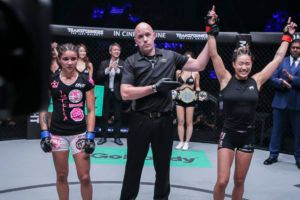ONE Women's Atomweight World Champion Angela Lee Finishes Istela Nunes