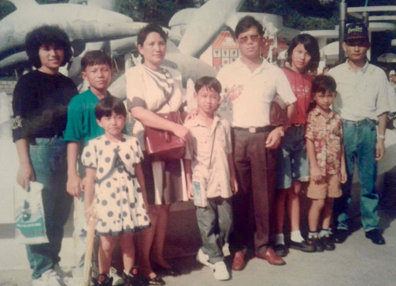 Aung La N Sang with his family in Myanmar