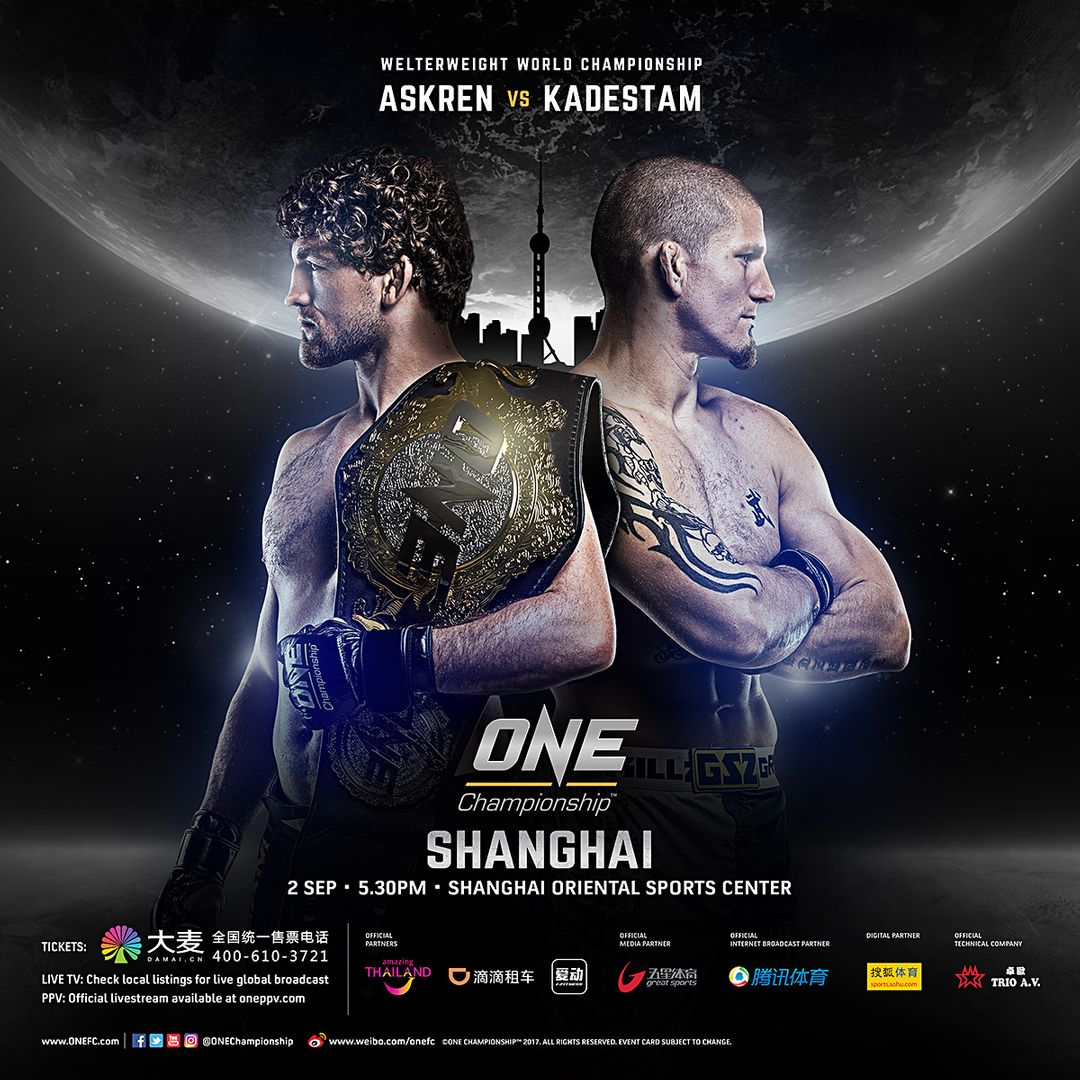 ONE Championship Announces Full Bout Card For Inaugural Event In Shanghai