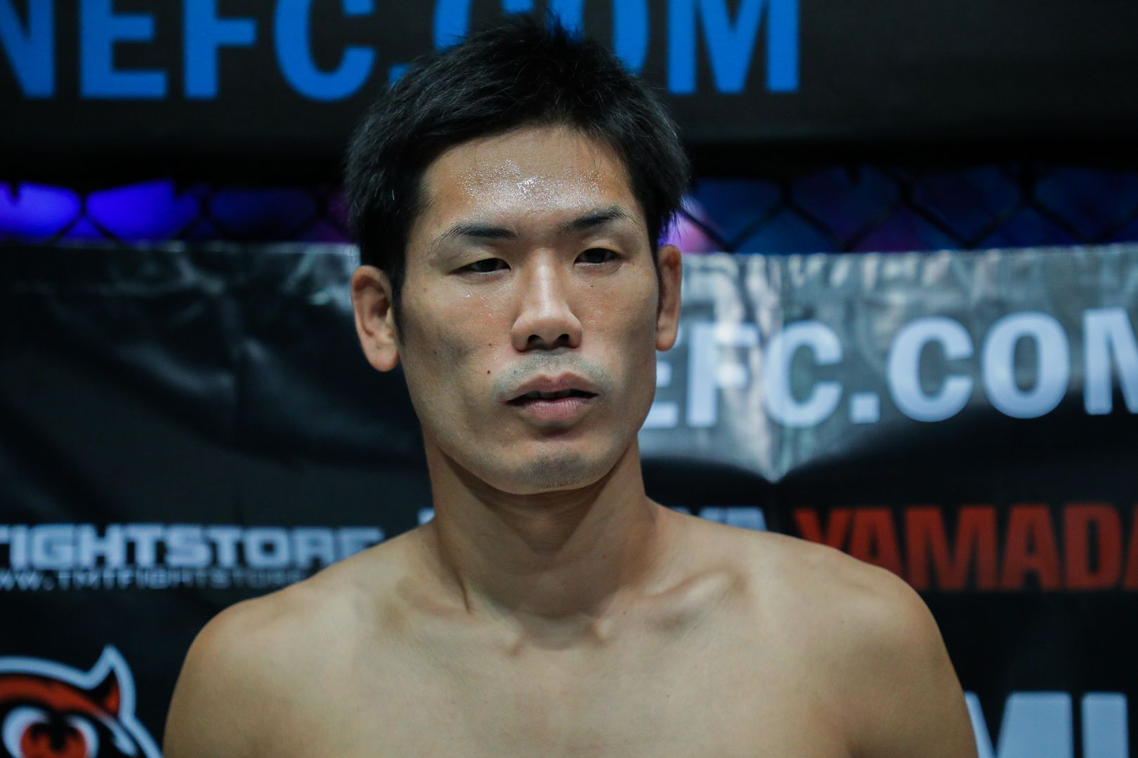 A close-up shot of MMA fighter Tetsuya Yamada