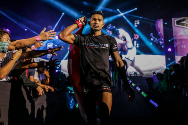 Singapore lightweight mixed martial artist Amir Khan heads to the cage