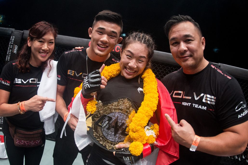 Angela Lee with her brother, Christian, her dad, Ken, and her mom, Jewelz
