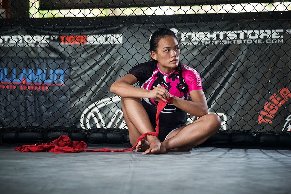 Singapore martial artist Tiffany Teo wraps her hands