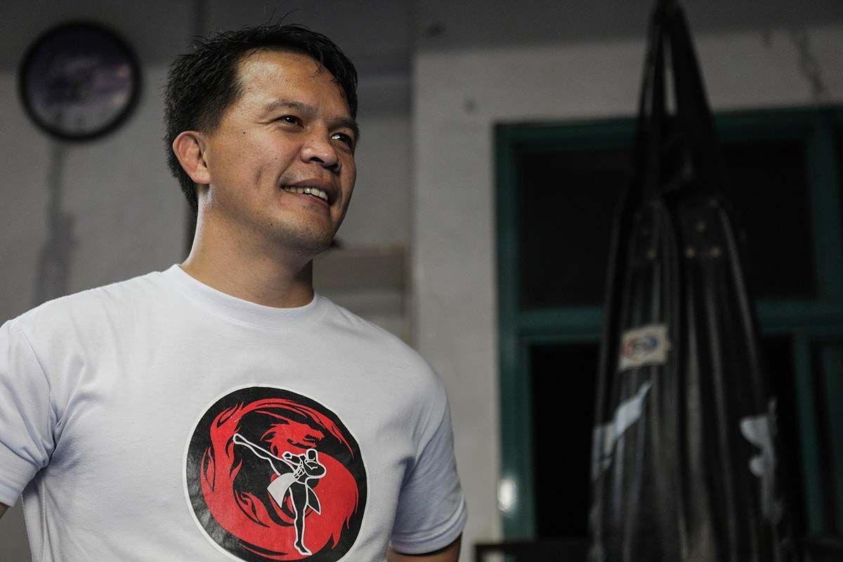 Mark Sangiao at the Team Lakay gym in Baguio City