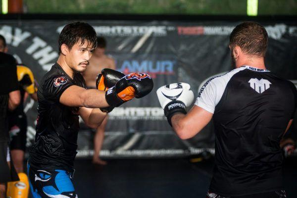 Thai mixed martial arts pioneer Shannon Wiratchai trains at Tiger Muay Thai