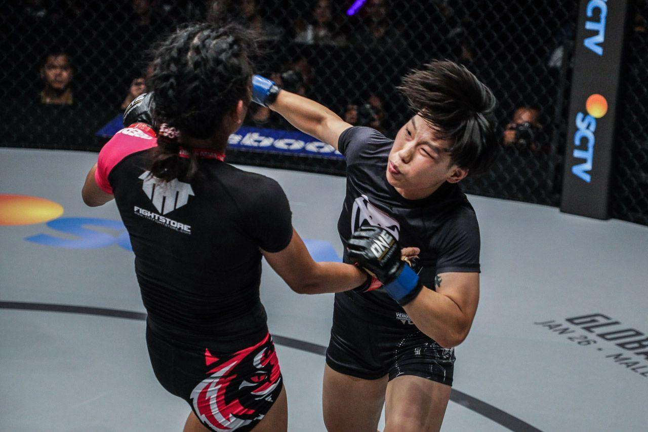 """""""The Panda"""" Xiong Jing Nan defeats Tiffany Two via KO"""