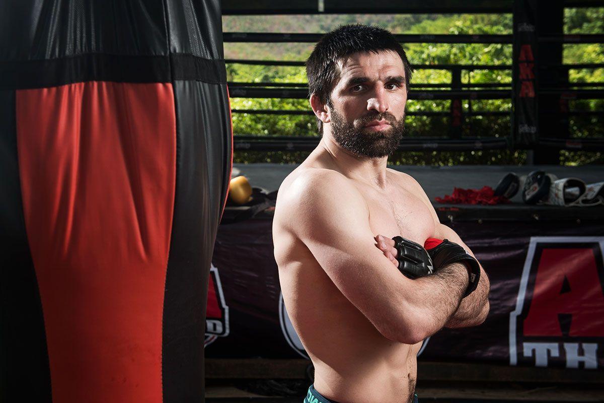 Russian mixed martial artist Yusup Saadulaev poses at AKA Thailand