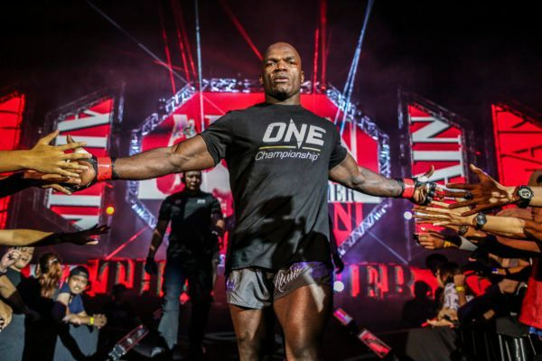 Muay Thai and kickboxing heavyweight World Champion Alain The Panther Ngalani enters the Impact Arena