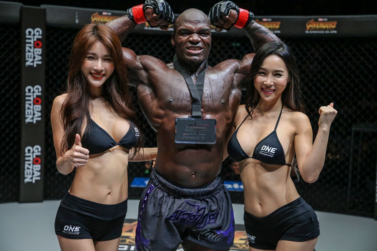 Alain Ngalani poses after another excellent win.