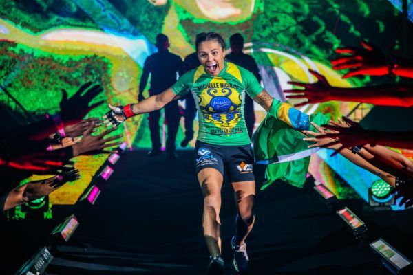 Eight-time Brazilian Jiu-Jitsu World Champion Michelle Nicolini makes her way to the Circle