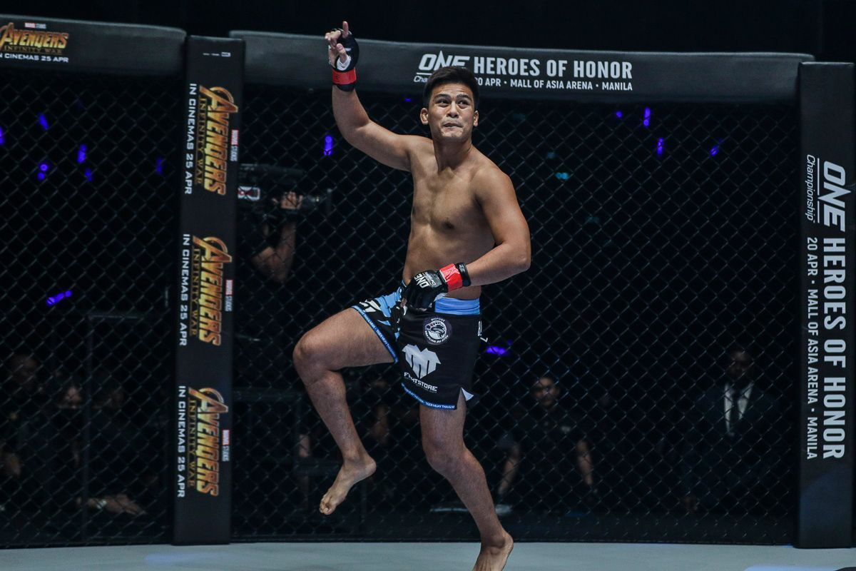 Thai mixed martial arts pioneer Shannon Wiratchai jumps around