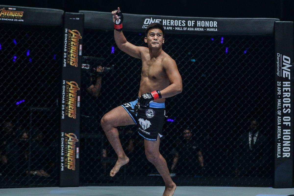 Thai mixed martial arts pioneer Shannon Wiratchai jumps around