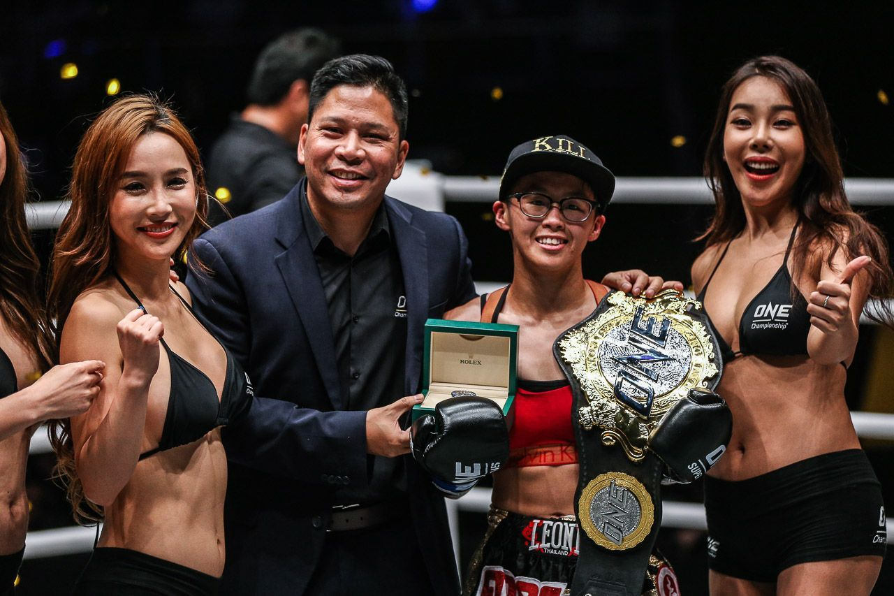 Kai Ting Chuang is the womens Kickboxing debut champion