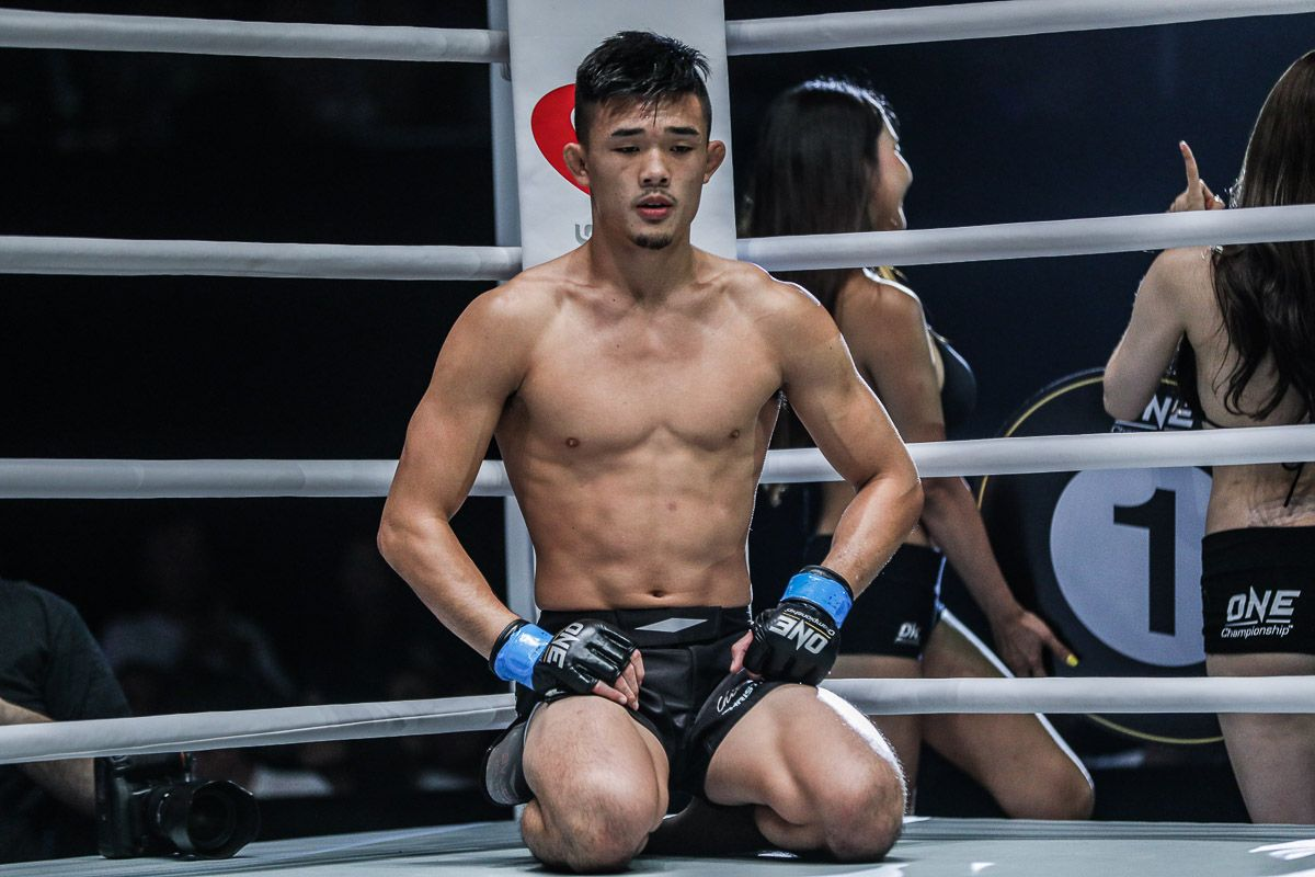 ONE Lightweight World Champion Christian Lee focuses before his match
