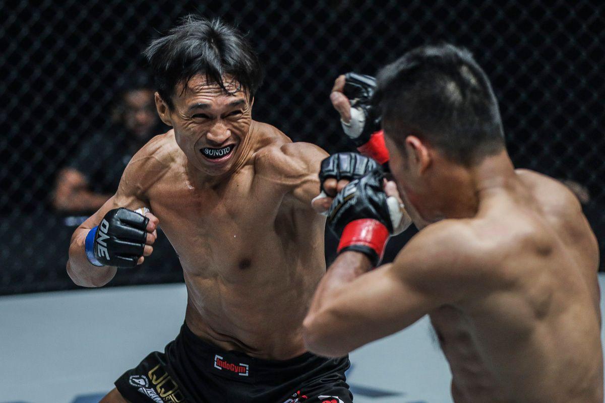 Indonesian bantamweight Sunoto gets the cross ready