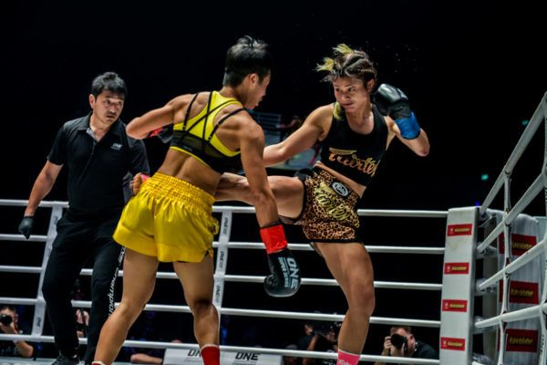 Stamp Fairtex VS Kai Ting Chuang