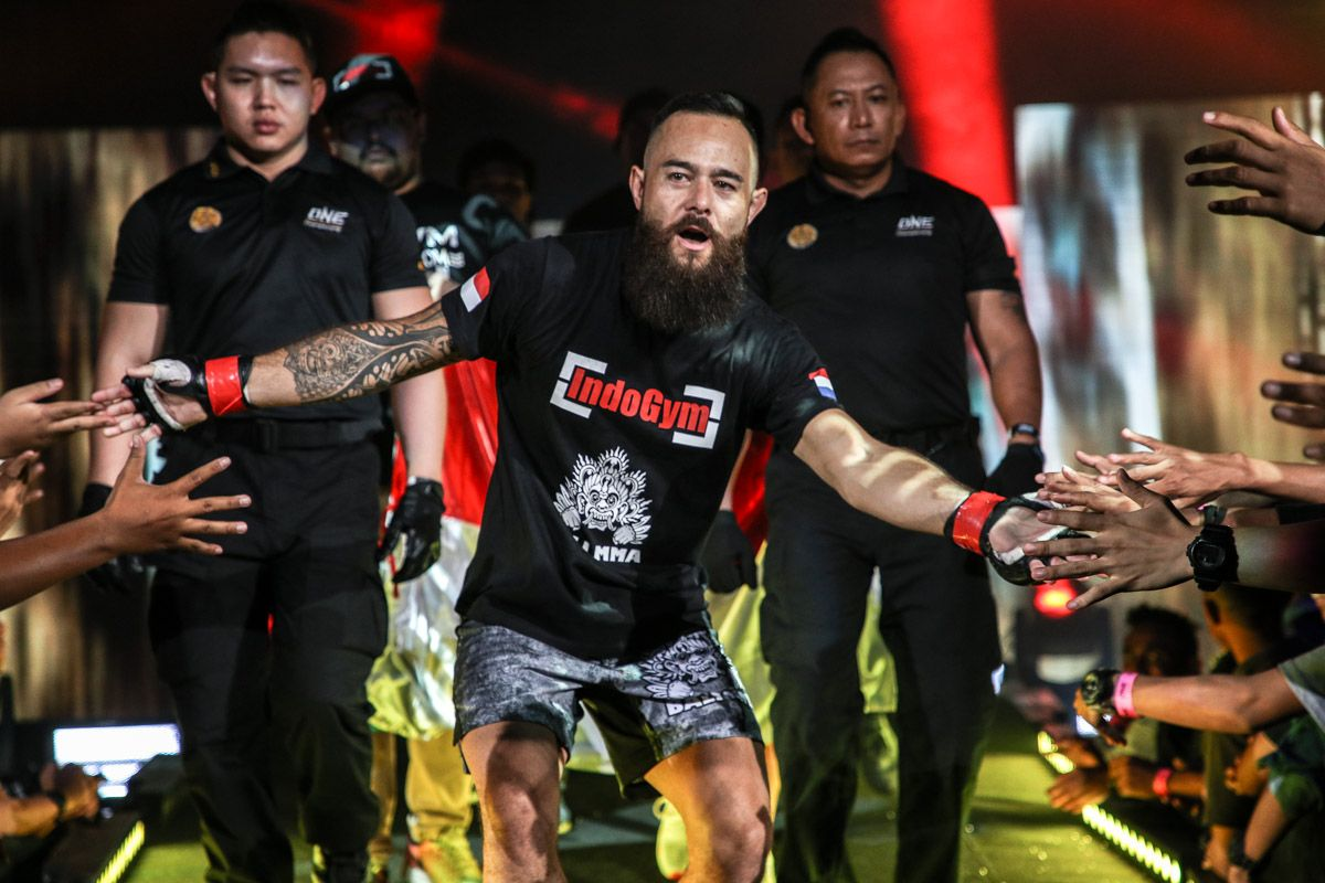 MMA fighter Anthony Engelen enters the arena