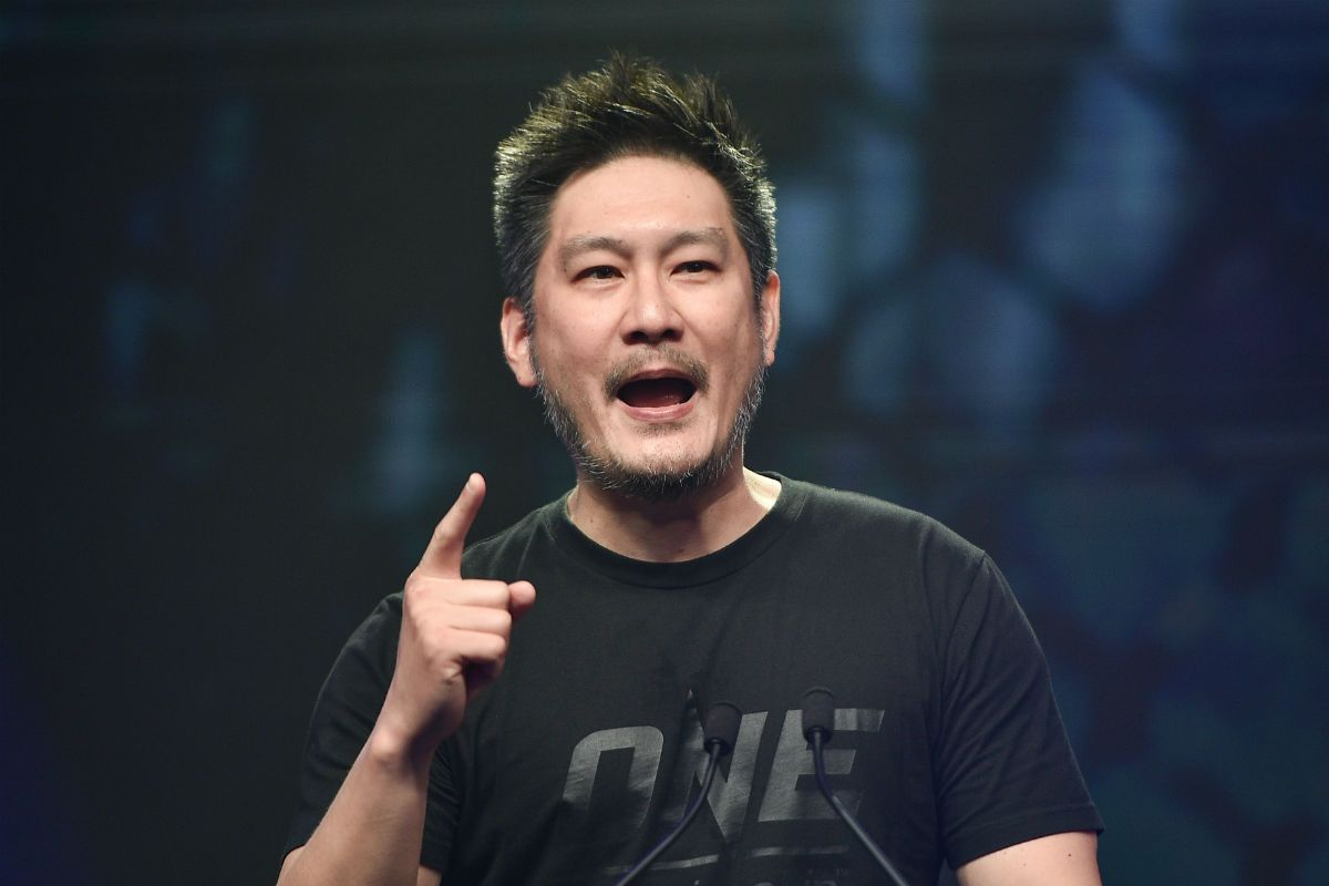 ONE Championship Chairman and CEO Chatri Sityodtong speaks at a press conference