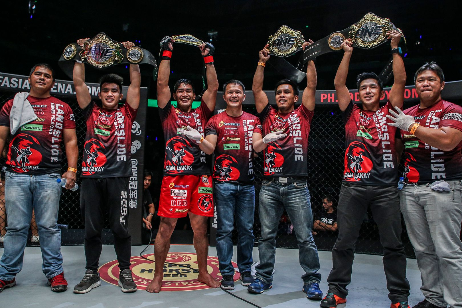 Four Team Lakay World Champions with Mark Sangiao