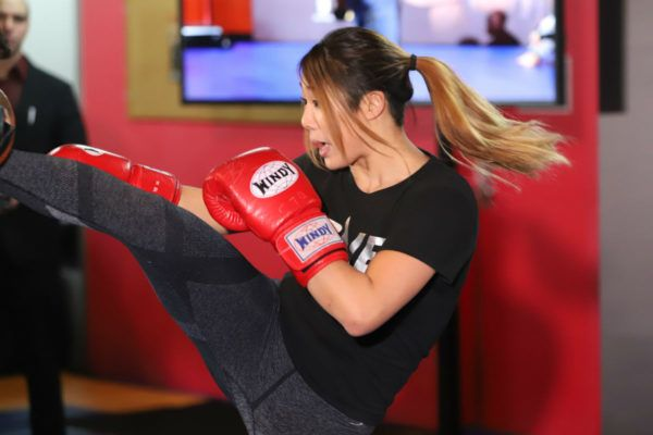 Angela Lee open workout in Tokyo, Japan