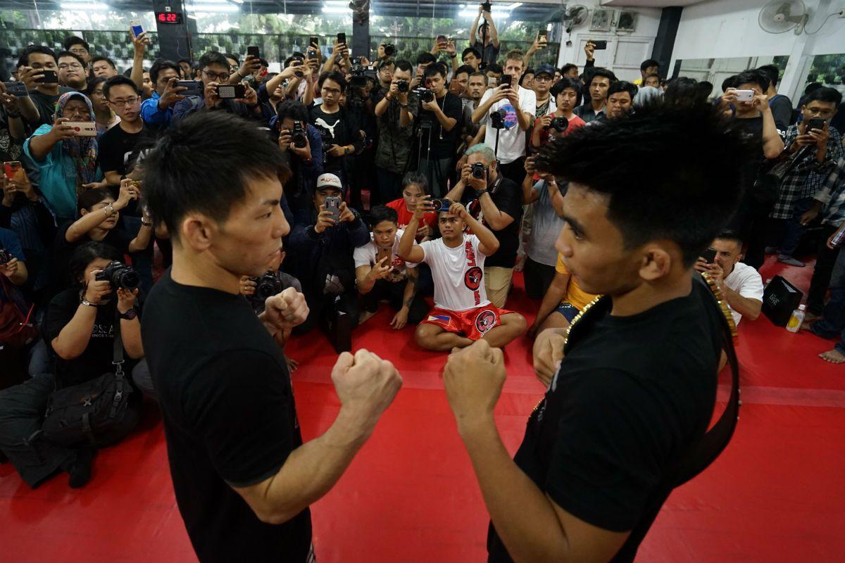 Strawweight MMA fighters Joshua Pacio and Yosuke Saruta face off