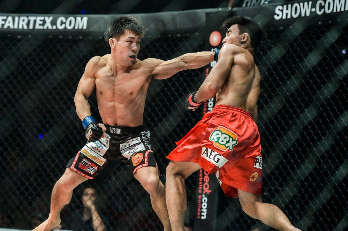 Yosuke Saruta attacks on the front foot