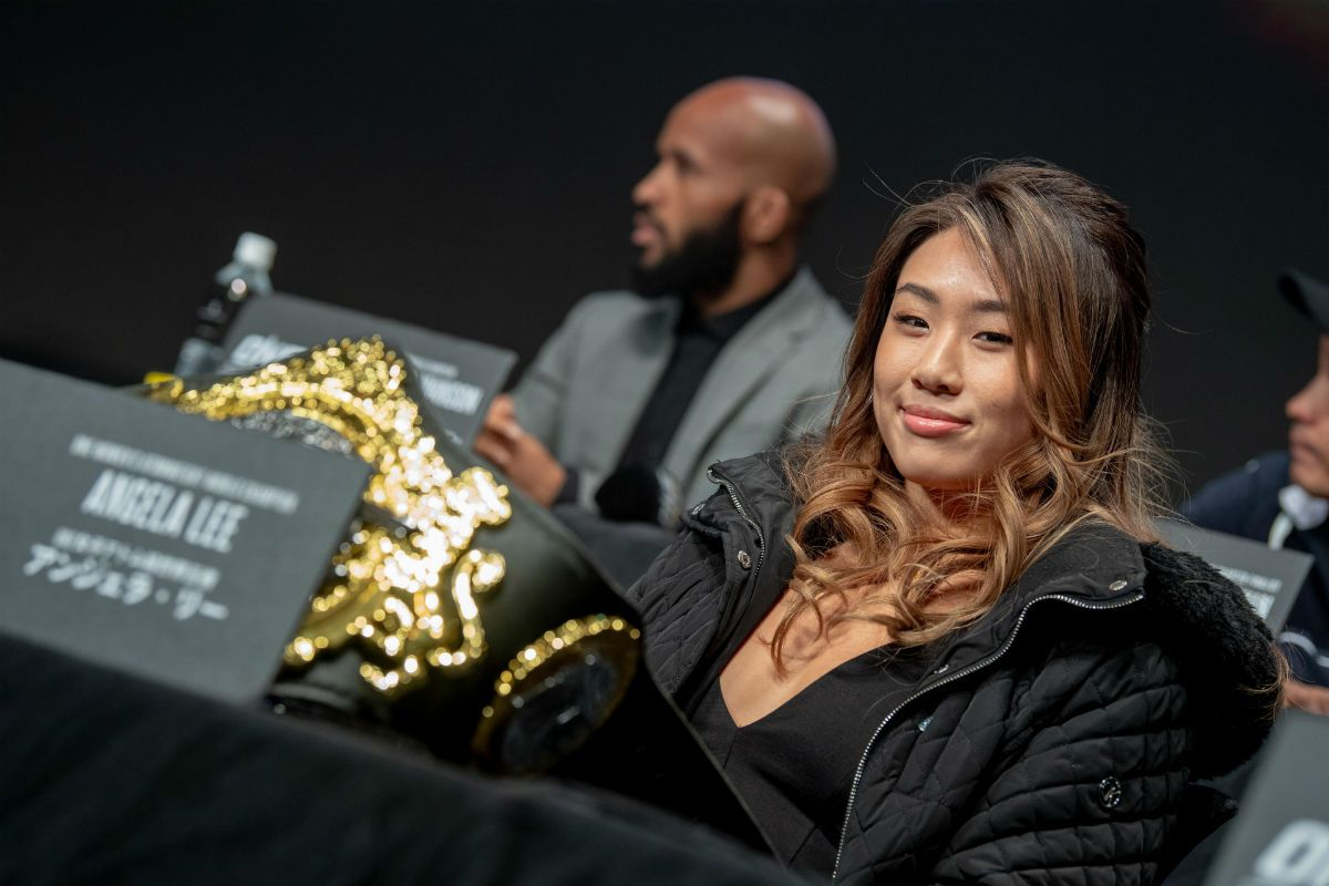 Angela Lee at the ONE: A NEW ERA press conference