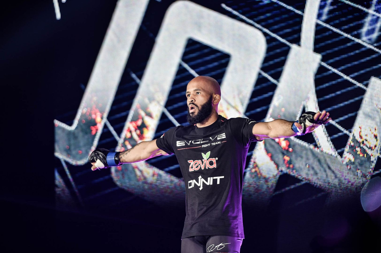 American superstar Demetrious Johnson walks to the Circle for his ONE debut