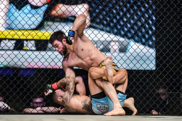 Garry Tonon reigns down ground and pound at ONE: A NEW ERA against Anthony Engelen.