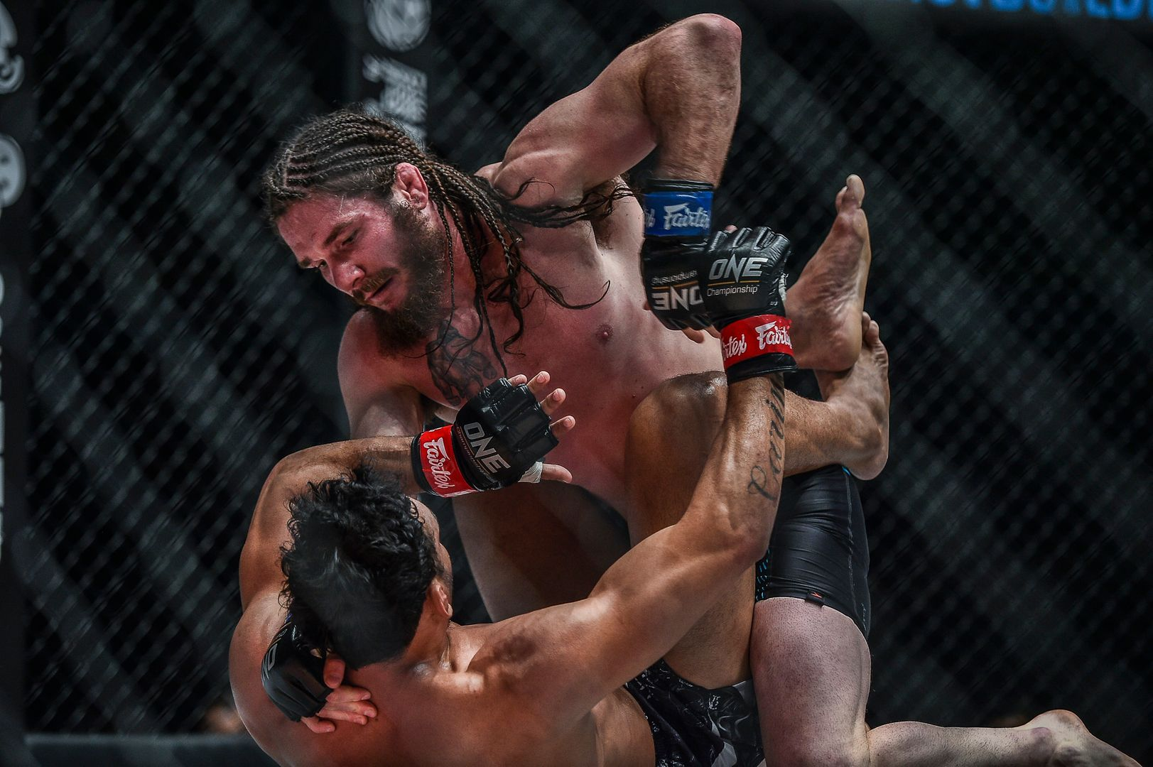 James Nakashima dishes out some ground and pound at ONE: ROOTS OF HONOR