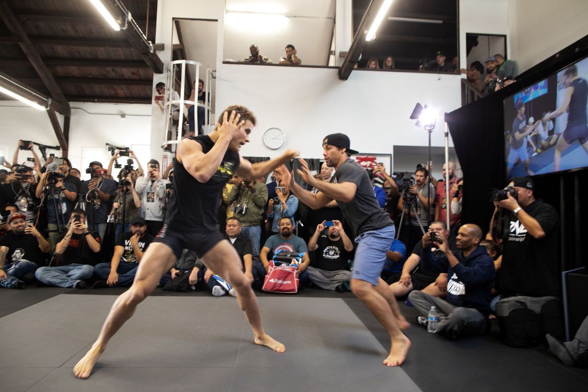 Sage Northcutt trains with Urijah Faber at an open workout