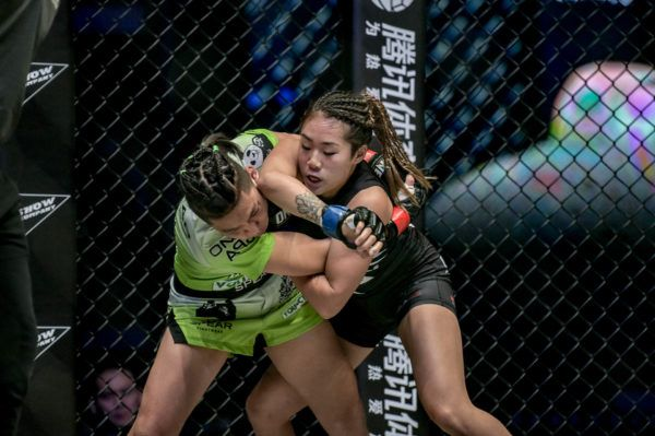 Xiong Jing Nan and Angela Lee grappler for position at ONE: A NEW ERA