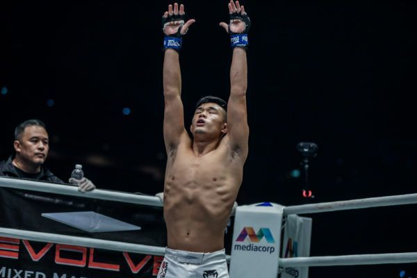 Christian Lee prepares to go to battle in the ONE Championship Circle