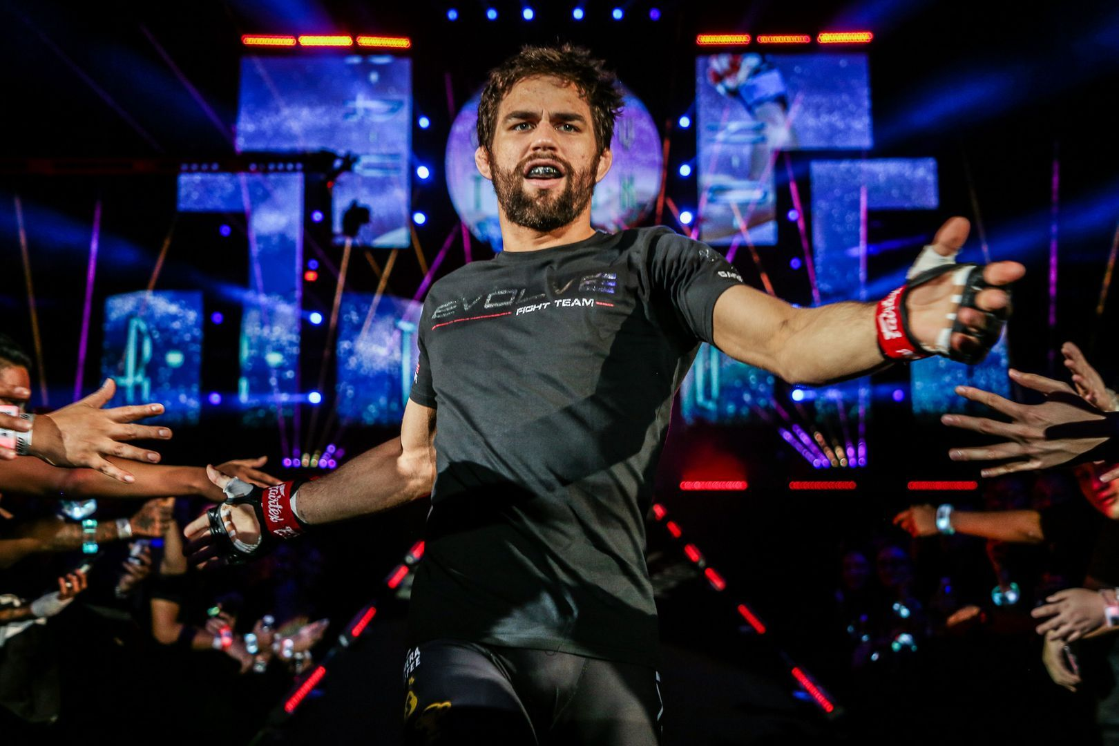 Multi-time Brazilian Jiu-Jitsu World Champion Garry Tonon walks to the circle for his mixed martial arts match