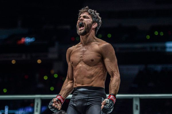 American grappling stud Garry Tonon screams in joy bout his quick submission win