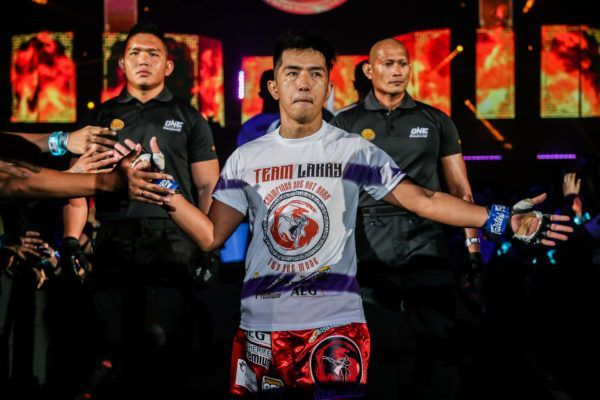 Former ONE Flyweight World Champion walks to the ring