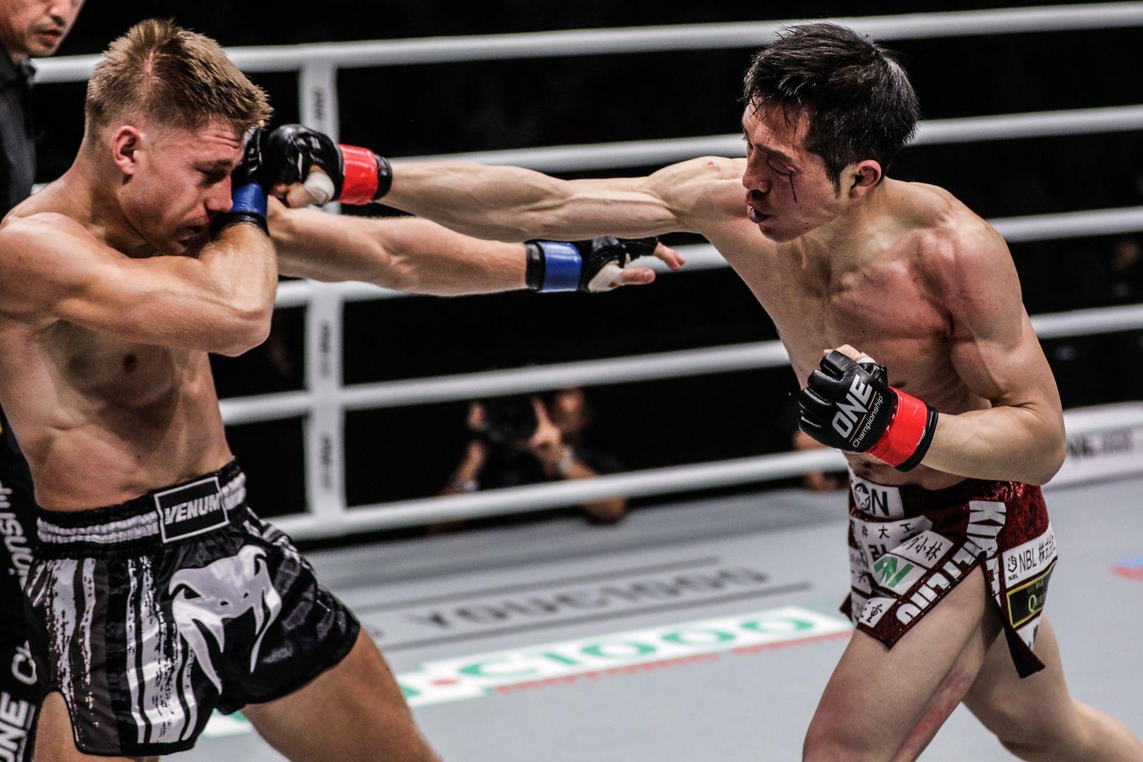 Kenta Yamada defeats Deividas Danyla in a Muay Thai match by split decision at ONE: FOR HONOR
