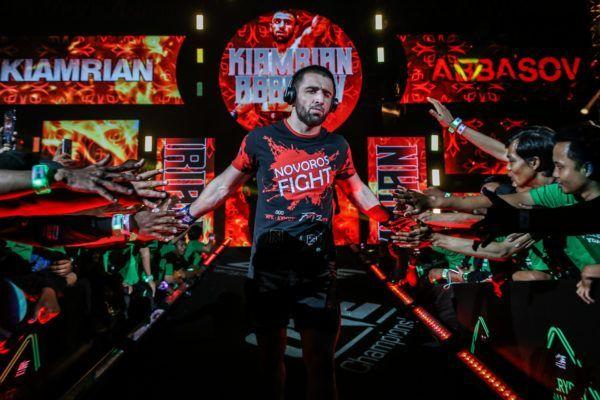 ONE Welterweight World Champion Kiamrian Abbasov makes his entrance