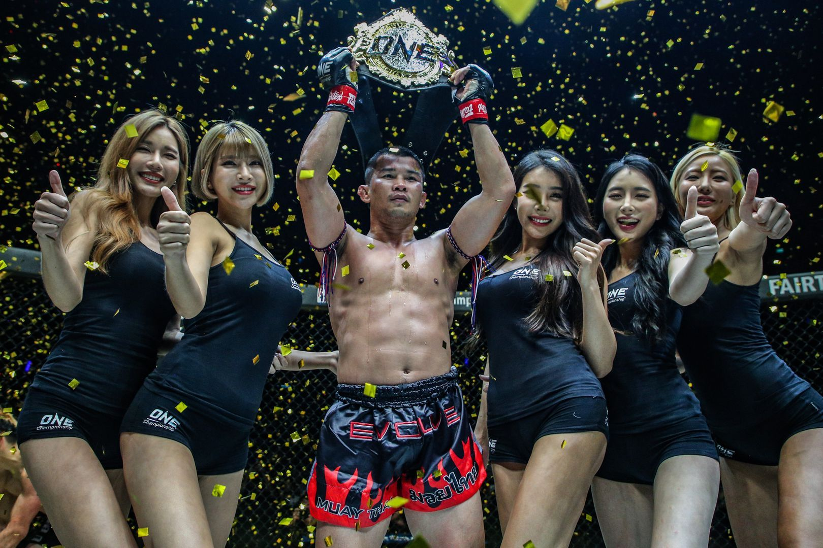 Nong-O Gaianghadao defeats Hayato Suzuki for the ONE Bantamweight Muay Thai World Title at ONE: WARRIORS OF LIGHT