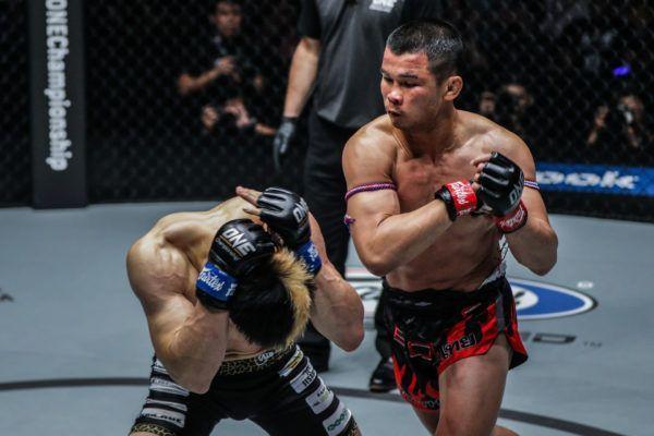 ONE Bantamweight Muay Thai World Champion Nong-O punches Hiroaki Suzuki