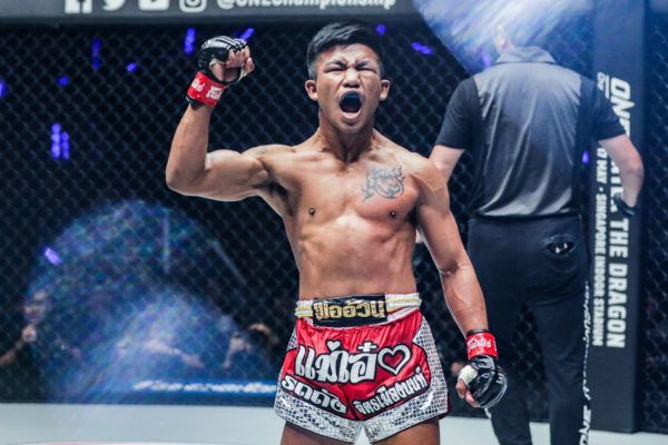 ONE Flyweight Muay Thai World Champion Rodtang Jitmuangnon lets out a scream