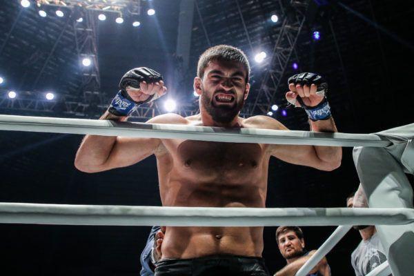 Saygid Guseyn Arslanaliev celebrates his win in the ONE Lightweight World Grand Prix semifinal