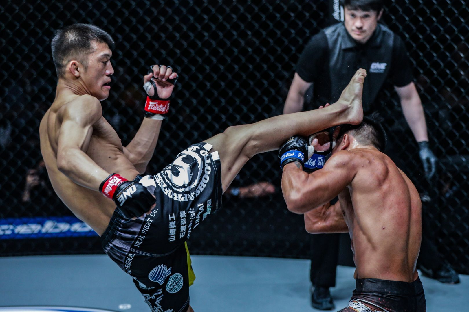 Shoko Sato kicks Mark Fairtex Abelardo at ONE: WARRIORS OF LIGHT