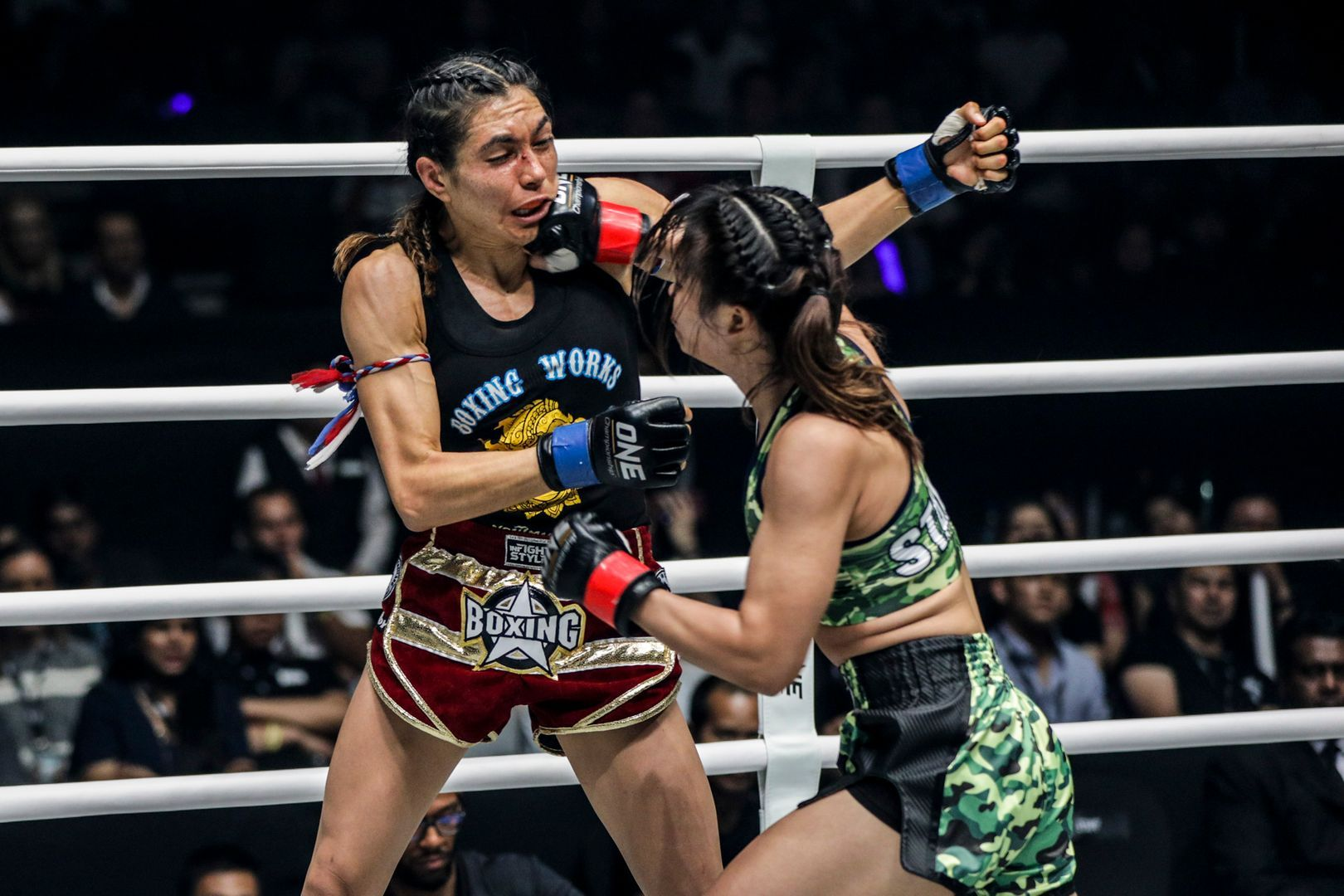 Two-sport ONE World Champion Stamp Fairtex punches American star Janet Todd