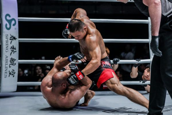 Fan Rong Thrills The Local Crowd With Ground And Pound Finish